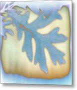 Blue Leaf Metal Print