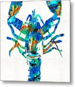 Blue Lobster Art By Sharon Cummings Metal Print
