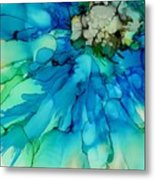 Blue Magnificence Metal Print