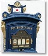 Blue Mailbox Metal Print
