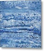 Blue Malachite Metal Print