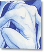 Blue Man Study Metal Print
