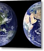 Blue Marble Composite Images Generated By Nasa Metal Print