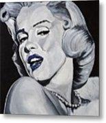 Blue Marilyn  Metal Print
