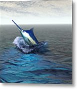 Blue Marlin Metal Print by Corey Ford
