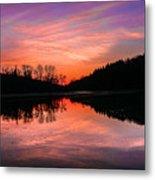 Blue Marsh Lake Sunset Metal Print