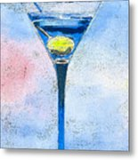 Blue Martini Metal Print