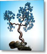 Blue Math  Tree 2 Metal Print