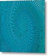 Blue Metal Spca Metal Print