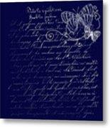 Blue Midnight Butterfly Metal Print