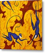 Blue Monkeys No. 45 Metal Print