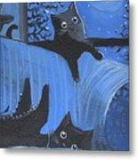 Blue Moon Halloween Metal Print