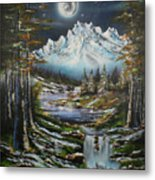 Blue Moon Shine Metal Print