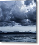 Blue Morning Taal Volcano Philippines Metal Print