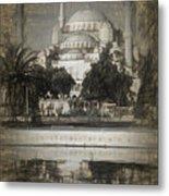 Blue Mosque - Sketch Metal Print