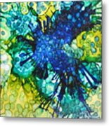 Blue Moth Metal Print