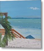 Blue Mountain Beach Dune Metal Print