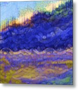 Blue Mountain River Metal Print