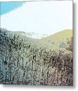Blue Mountain Scrub Metal Print