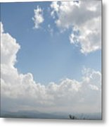 Blue Mountain Sky Metal Print