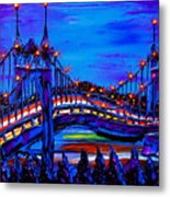 Blue Night Of St. Johns Bridge 37 Metal Print