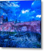 Blue Night Over Teutonic Castle Metal Print
