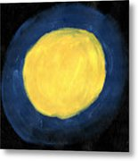 Blue Night Sun Metal Print