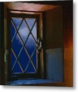 Blue Night Through Casement Metal Print