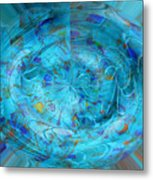 Blue Oval Metal Print