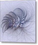 Blue Pagliai Ferns Metal Print