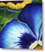 Blue Pansies  Metal Print
