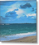 Blue Paradise, Scenic Ocean View From The Bahamas Metal Print