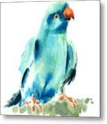 Blue Parrot Bird Metal Print