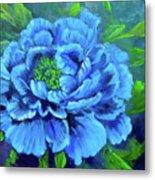 Blue Peony Jenny Lee Discount Metal Print