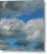 Blue Perfect Sky Sea Of Clouds From High Altitude Space Metal Print