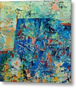 Blue Play 2 Metal Print
