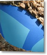 Blue Pond Metal Print