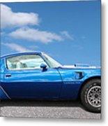 Blue Pontiac Trans Am 1978 Metal Print