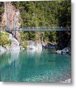 Blue Pools New Zealand Metal Print