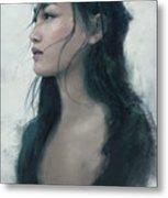 Blue Portrait Metal Print