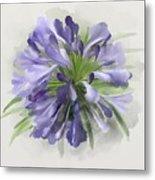 Blue Purple Flowers Metal Print