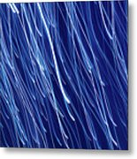 Blue Rain Abstract Metal Print