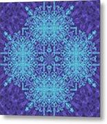 Blue Resonance Metal Print