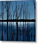 Blue Reservoir - Manasquan Reservoir Metal Print