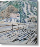 Blue Ridge Church Metal Print