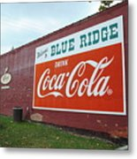Blue Ridge Coke Metal Print