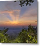 Blue Ridge Mountain Sunset Metal Print
