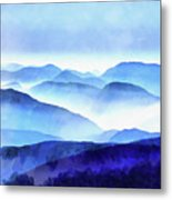 Blue Ridge Mountains Metal Print