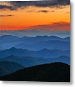 Blue Ridge Mountains. Metal Print