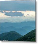Blue Ridge Mountains View From Craggy Garden Metal Print